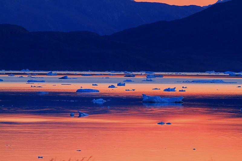 greenlandic sunset